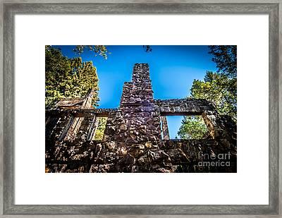 Wolf House Chimney Framed Print
