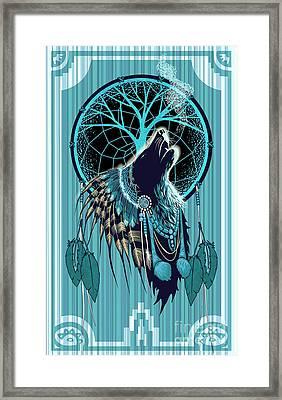 Wolf Indian Shaman Framed Print