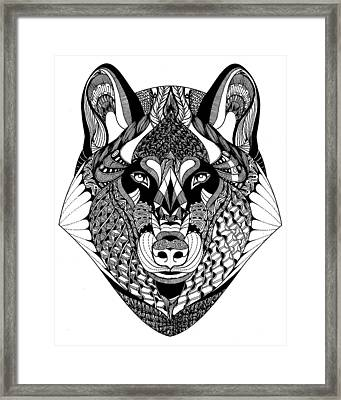 Wolf Framed Print by Jan Steinle