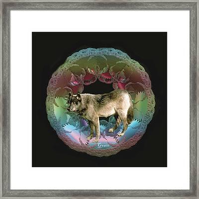 Wolf Framed Print by Julie Grace