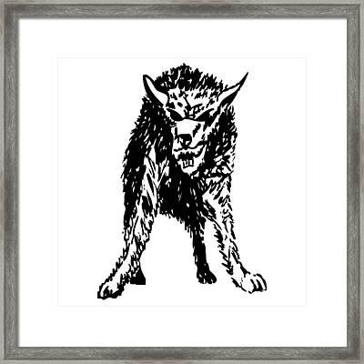 Wolf Framed Print by Karl Addison