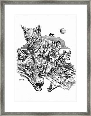 Wolf Life Cycle Framed Print by John Keaton