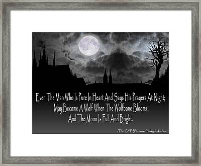 Wolf Moon Framed Print