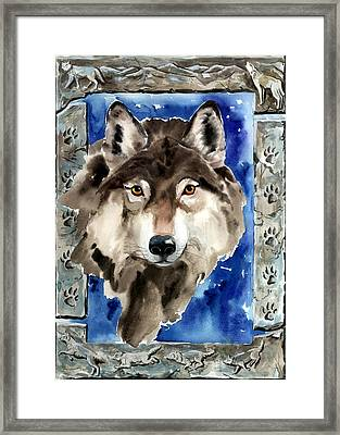Wolf Framed Print by Nadi Spencer