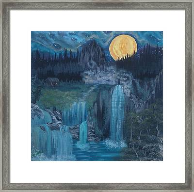 Wolf Of The Mountain  Framed Print