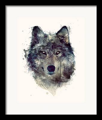 Wolf Portrait Framed Prints