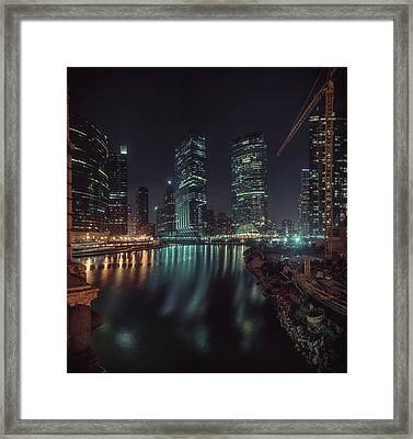 Wolf Point Night Framed Print