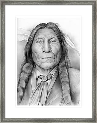 Wolf Robe Framed Print by Greg Joens