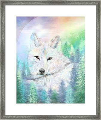 Wolf - Spirit Of Illumination Framed Print