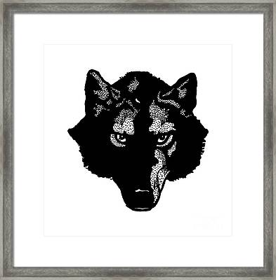 Wolf Tee Framed Print by Edward Fielding