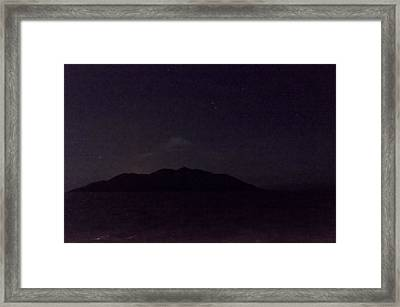 Wolf Volcano Before Eruption Framed Print