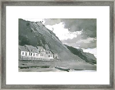 Wolfe's Cove Quebec Framed Print by Winslow Homer