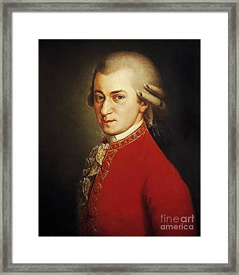 Wolfgang Amadeus Mozart, Austrian Framed Print by Photo Researchers
