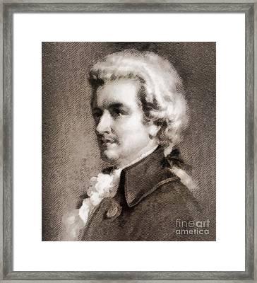 Wolfgang Amadeus Mozart, Composer Framed Print by John Springfield