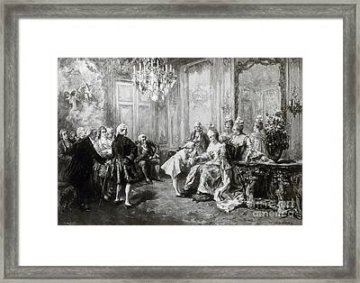 Wolfgang Amadeus Mozart With Madame Framed Print by Science Source