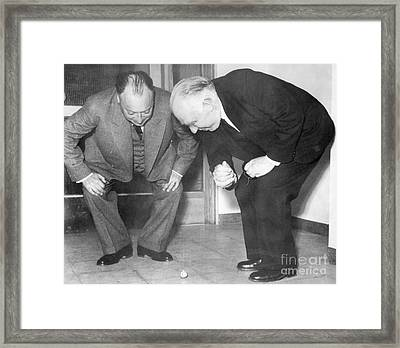 Wolfgang Pauli And Niels Bohr Framed Print by Margrethe Bohr Collection and AIP and Photo Researchers