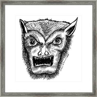 Wolfman Framed Print by Karl Addison