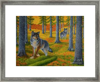 Wolf's Forest Framed Print