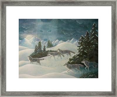 Wolfspirit Framed Print by Bernadette Wulf