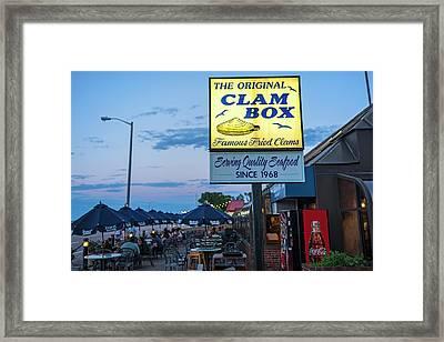 Wollaston Beach Quincy Ma Clam Box Framed Print