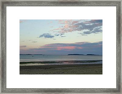 Wollaston Beach Sunset Quincy Ma Red Sky Framed Print