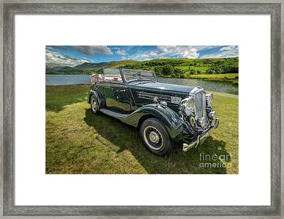 Framed Print featuring the photograph Wolseley Classic Car by Adrian Evans