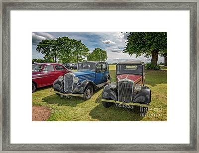 Framed Print featuring the photograph Wolseley Motors by Adrian Evans