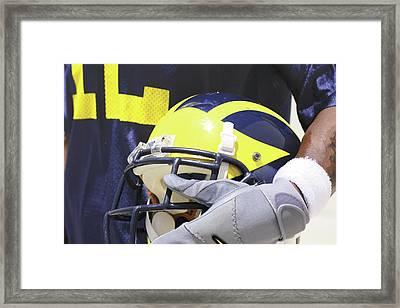 Wolverine Cradles Helmet Framed Print