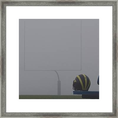 Wolverine Helmet In Heavy Morning Fog Framed Print