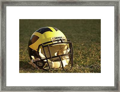 Wolverine Helmet In Morning Sunlight Framed Print