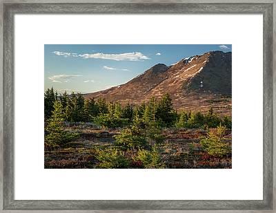 Wolverine Mt Near Sunset Framed Print