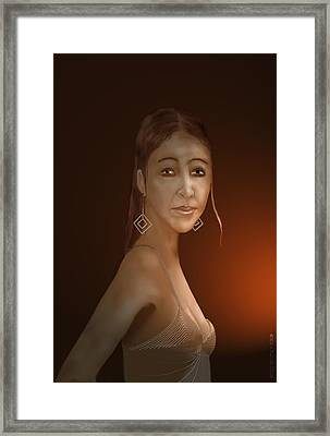 Framed Print featuring the digital art Woman 10 by Kerry Beverly