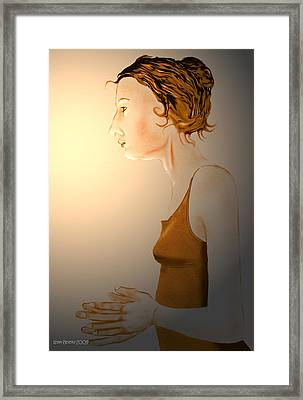 Framed Print featuring the digital art Woman 15 by Kerry Beverly