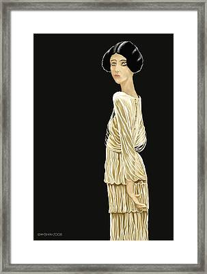 Framed Print featuring the digital art Woman 36 by Kerry Beverly