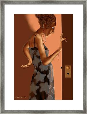 Framed Print featuring the digital art Woman 37 by Kerry Beverly