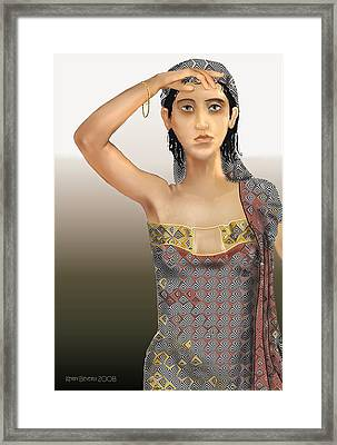 Framed Print featuring the digital art Woman 5 by Kerry Beverly
