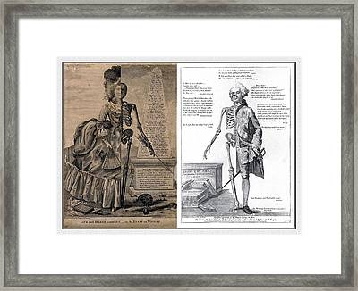 Woman And A Man Framed Print