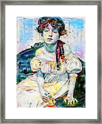 Woman And Jug Framed Print by Roger Smith