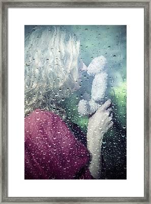 Woman And Teddy Framed Print by Joana Kruse