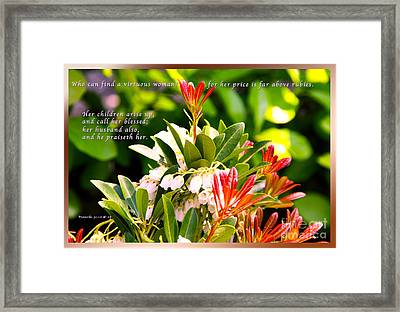 Woman Arise Framed Print by Terry Wallace