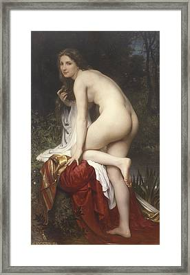 Woman Bathing Framed Print