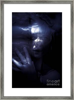 Woman Behind Tree Framed Print by Jorgo Photography - Wall Art Gallery