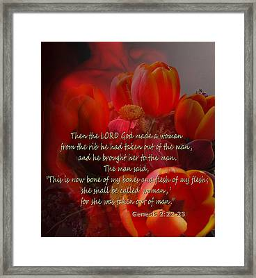 Woman By God Framed Print by Ruth Palmer