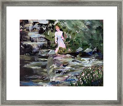 Woman By The Water Framed Print