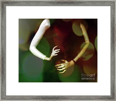 Woman Composite Made With Plaster Framed Print by Steven Digman