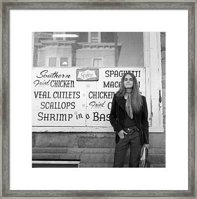 Woman Contemplates Scallops, 1972 Framed Print