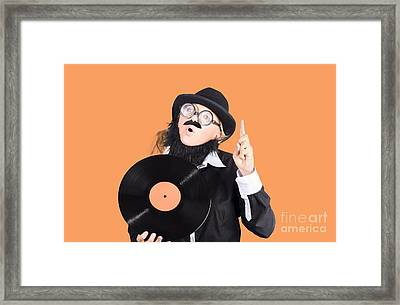 Woman Disc Jockey Framed Print by Jorgo Photography - Wall Art Gallery