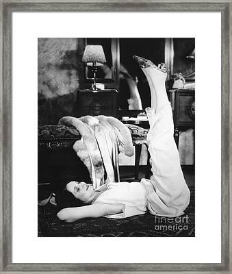 Woman Doing Calisthenics, C.1920-30s Framed Print