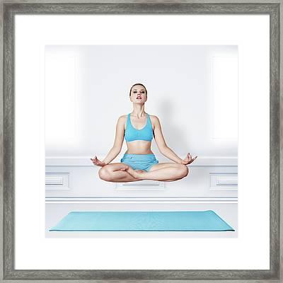 Woman Doing Yoga Framed Print