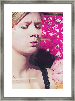 Woman Eating Ice Cream Framed Print by Jorgo Photography - Wall Art Gallery